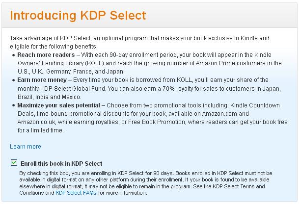 publising kindle ebook - step 2